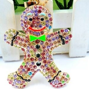 Betsey Johnson Christmas Gingerbread Man Necklace
